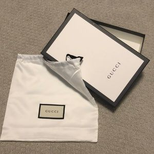 Gucci box and soft bag (Authentic)